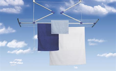 Blind Poles Lift Laundry Drying Rack Ceiling Clothes Airer