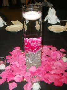 pink and black centerpieces for weddings weddind reception in pink and zebra 16 inch cylinder