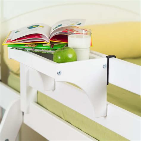 bedside tray by maxtrix kids shown in white