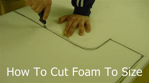 cut upholstery foam how to cut foam to size cutting upholstery foam at home