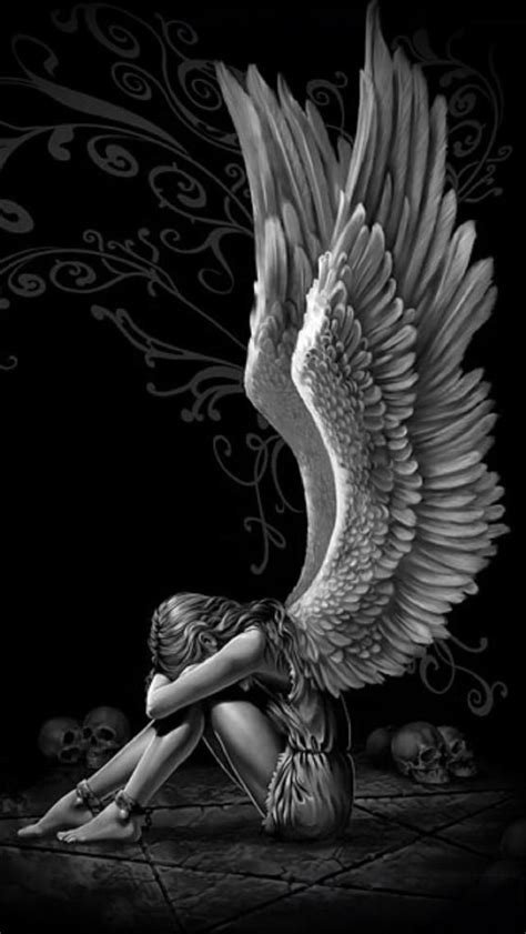 Pin by Britani Marie on ANG£LS & D£MONS | Angel wings wall