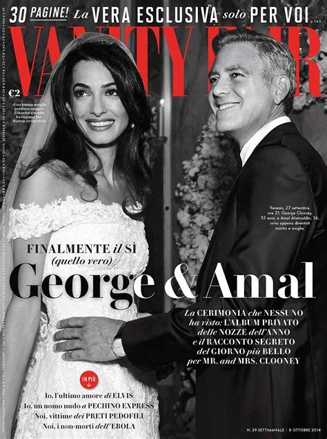 George Clooney Vanity Fair by George Clooney E Amal Alamuddin Le Foto Esclusive Su