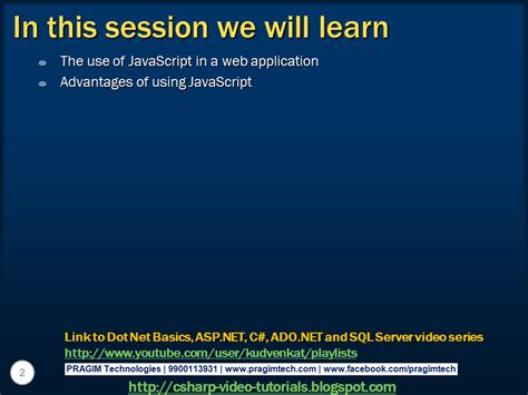 tutorial javascript in asp net sql server net and c video tutorial what is the use of