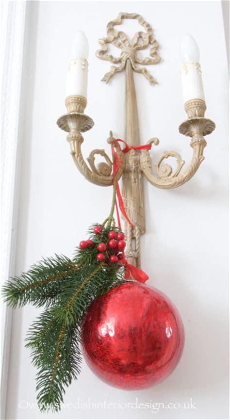 swedish christmas decoration traditional living room