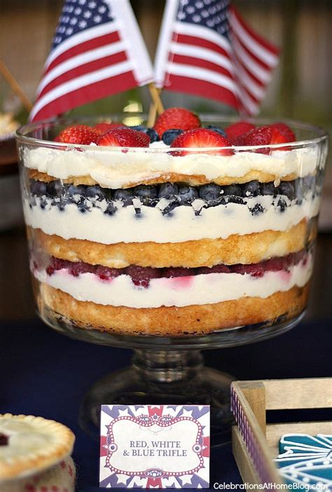 july 4th recipe red white and blue trifle dessert red white and blue trifle celebrations at home