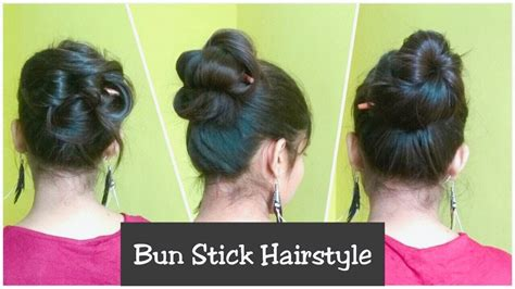 simple hairstyles with one elastic 3 simple messy bun hairstyles with stick no pins rubber
