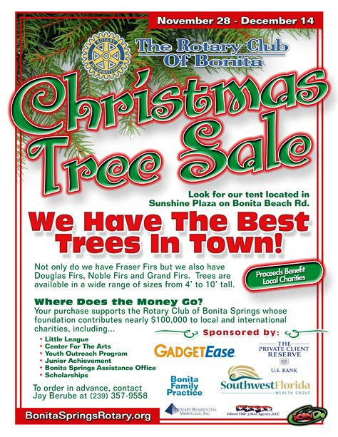 2010 rotary christmas tree flyer the rotary club of