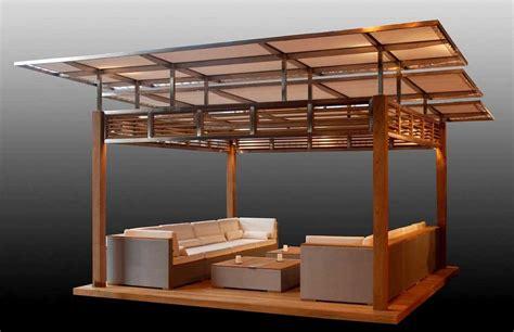 diy gazebo design and plans with modern furniture sets