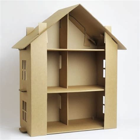 cardboard dolls house cardboard dollhouse kit baby pinterest