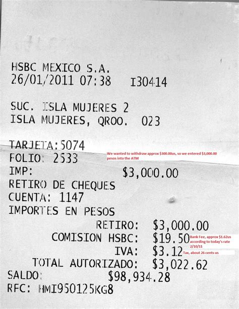 atm receipt template how to use the mexico atm mapchick s maps travel guides