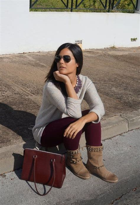 burgundy tights grey sweater looks i ve tried