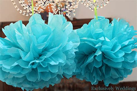 Make Your Own Tissue Paper Pom Poms - wedding diy diy backdrops ideas the snug