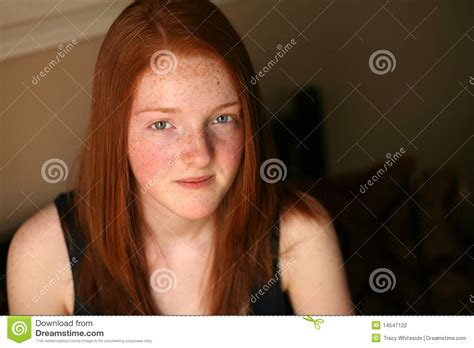 preteen red head pretty red haired preteen girl stock photography image