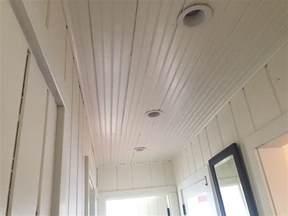 bead board on ceiling beadboard ceiling install