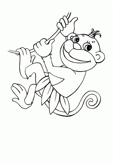 easy monkey coloring page simple and easy monkey coloring pagesfree coloring pages