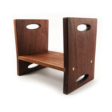 modern wooden step stool modern step stool walnut sided wooden stool
