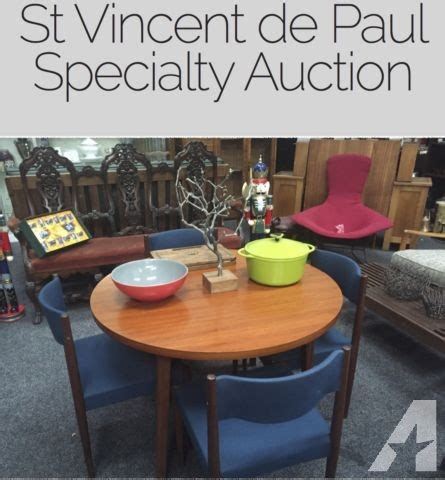 St Vincent De Paul Furniture Donation by Charity Event Antiques Collectables Bronze Rugs