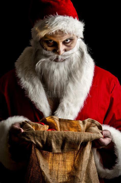 scary santa stock photo image  bizarre celebration