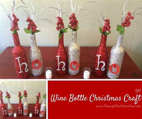 wine bottle christmas craft pictures photos and images