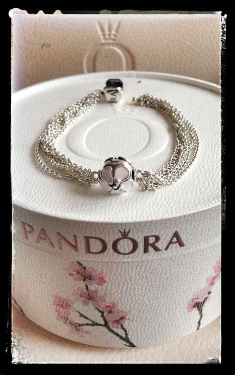 Pandora Cherry Blossom Clip Charm P 479 it multichain pandora bracelet with cherry blossom clip design and your pandora