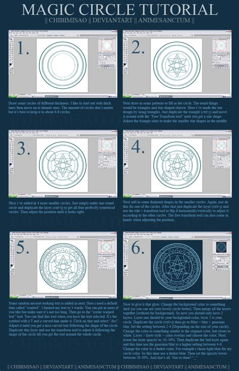 doodle how to make magic magic circle tutorial by chibimisao on deviantart