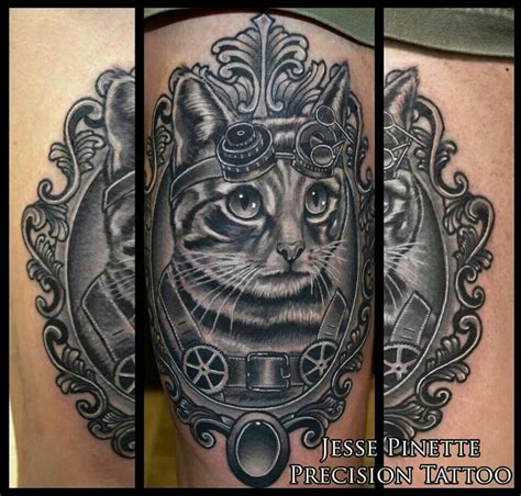 steam punk tattoos steunk cat cats