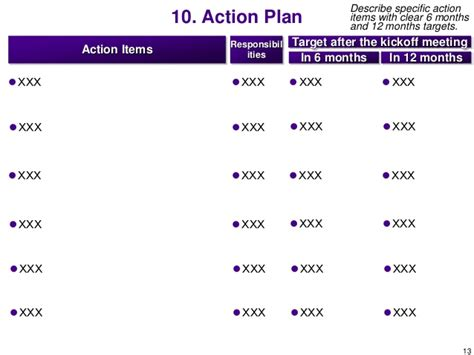 6 month business plan template business plan template