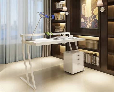 modern white office desk modern white gloss office desk sj48 desks