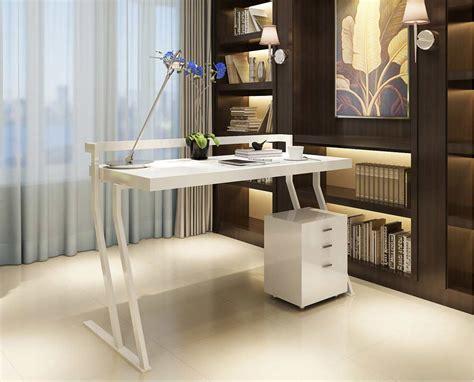 Modern White Gloss Office desk SJ48   Desks