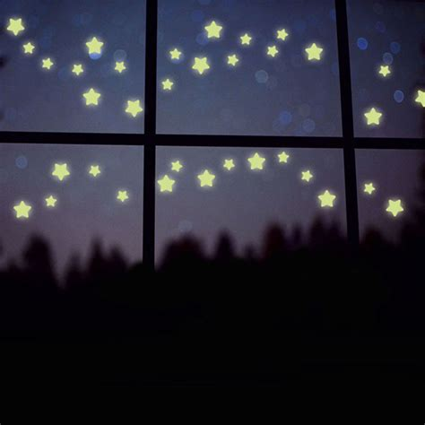 100 pcs wall stickers home decor glow in the dark star ᐊ100pcs lot stars glow in the ᗛ dark dark wall stickers