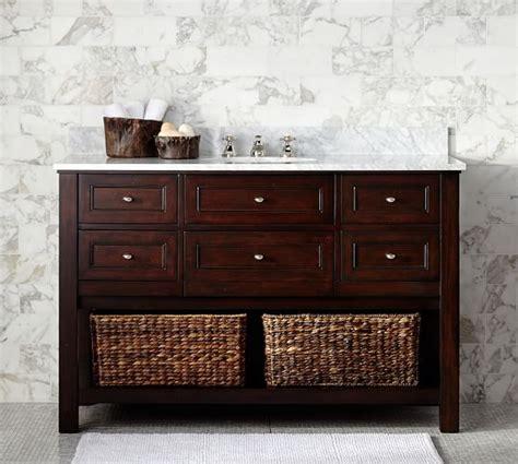 pottery barn sink console single wide sink console espresso finish
