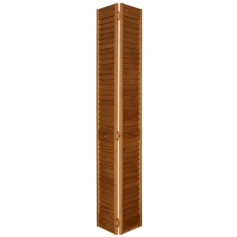 Wooden Louvered Closet Doors Bay 24 In X 80 In 24 In Plantation Louvered Solid Unfinished Panel Wood