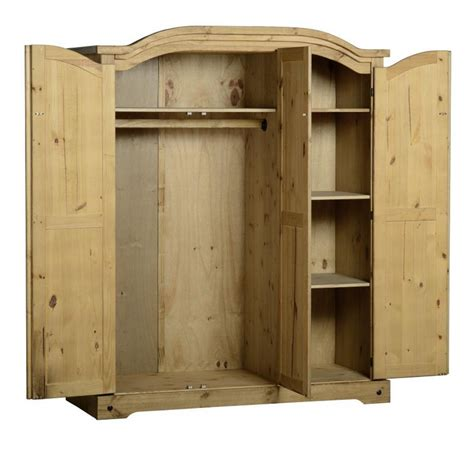 Corona 3 Door Wardrobe by Wardrobes Corona 3 Door Wardrobe In Distressed Waxed Pine