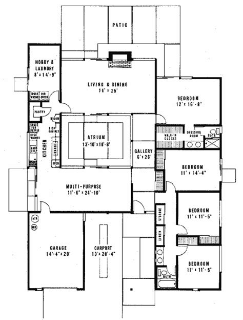 eichler style house plans joseph eichler floor plans courtyard houses plans