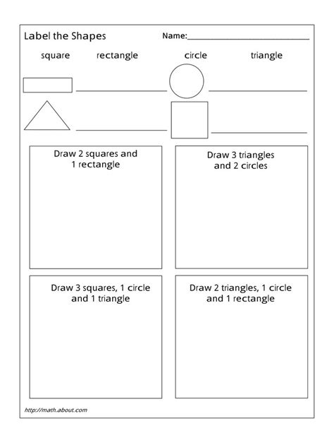 shapes worksheets yr 1 geometry worksheets for students in 1st grade