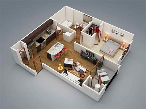 bedroom apartment plans  singles  couples home design lover