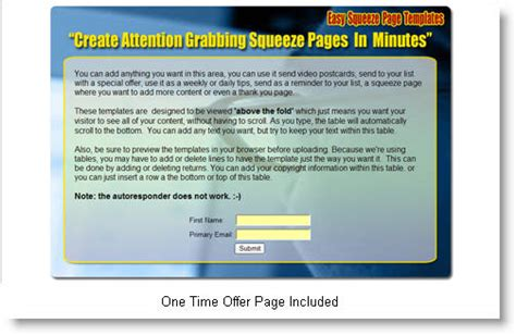 Easy Squeeze Page Templates Private Label Rights Squeeze Page Templates