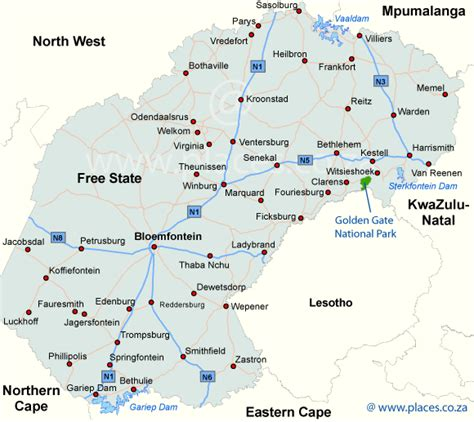 accommodation in the free state of south africa