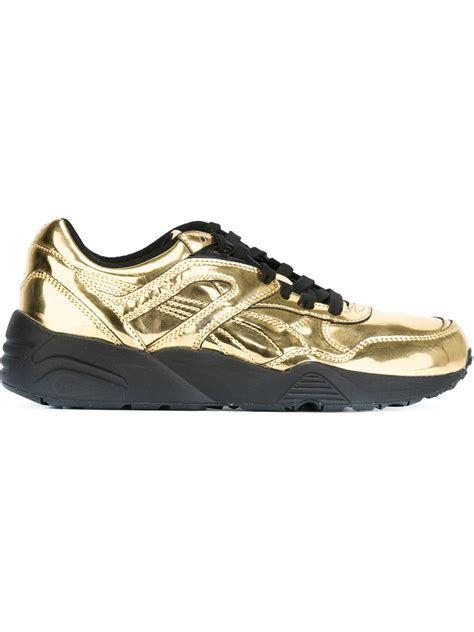 metallic gold sneakers lace up sneakers in gold metallic lyst