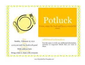 Potluck Invitation Template Free Printable by Flyer For Potluck