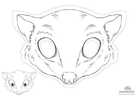 Printable Possum Mask | possum mask craft continent study australia pinterest