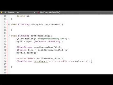 qt tutorial youtube c gui with qt tutorial 12 finishing the gettextfile