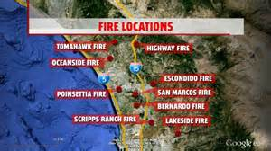 southern california fires today map fires burning out of in southern california