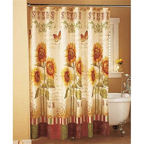 sunflower shower curtain sunflower shower curtain walmart com
