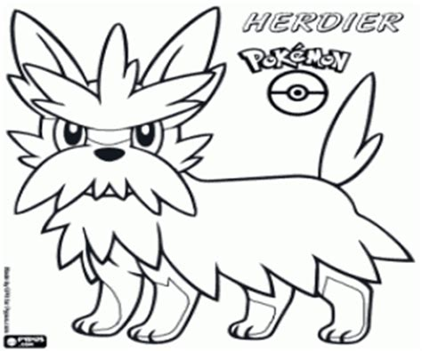 herdier pokemon coloring pages pok 233 mon black and white coloring pages printable games