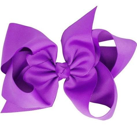 Bows Are Big by Grace Purple Big Bow Hair Clip Accessory For