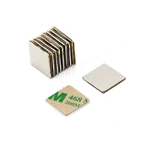 1 Pack Magnet Hitam 15 Mm adhesive 15 x 15 x 1mm thick n42 neodymium magnet 0 85kg pull first4magnets