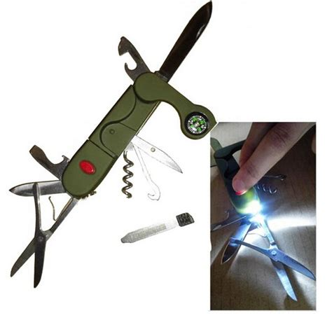 Swiss Knife Multifunction Tool 9 In 1 With Keychain Survival Kit 5 13 in 1 multifunction folding pocket army knife cing