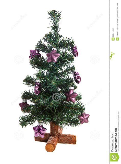 weihnachtsbaum plastik plastic tree with purple royalty free