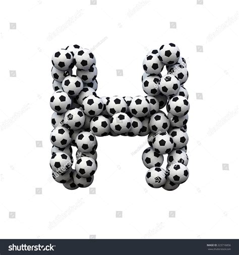 Football Team With Letter Z letter h soccer font isolated stock illustration